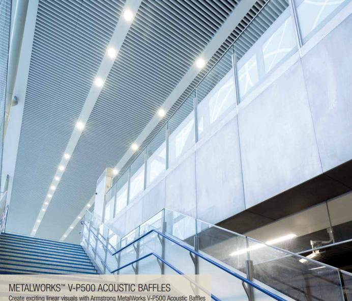 Armstrong Acoustic Baffles Metalworks Ceiling Distributors